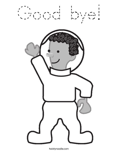 Cartoon Astronaut Coloring Page
