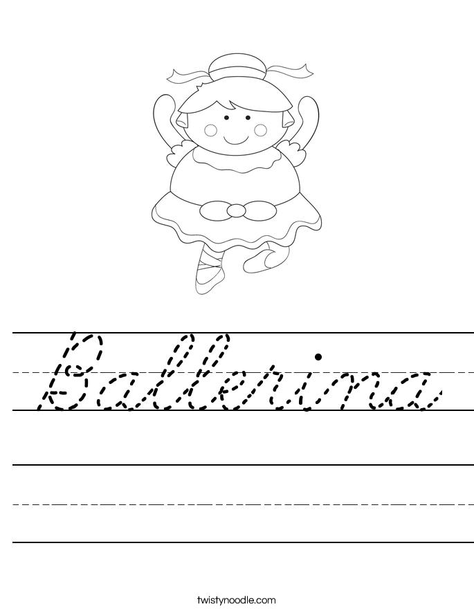 Ballerina Worksheet
