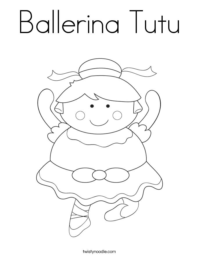 Ballerina Tutu Coloring Page