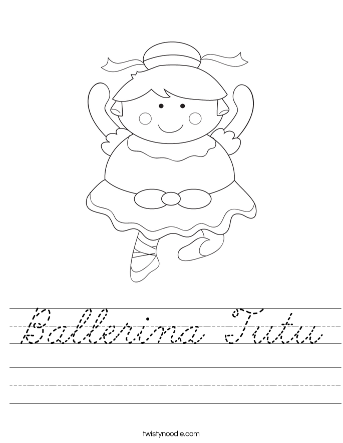 Ballerina Tutu Worksheet
