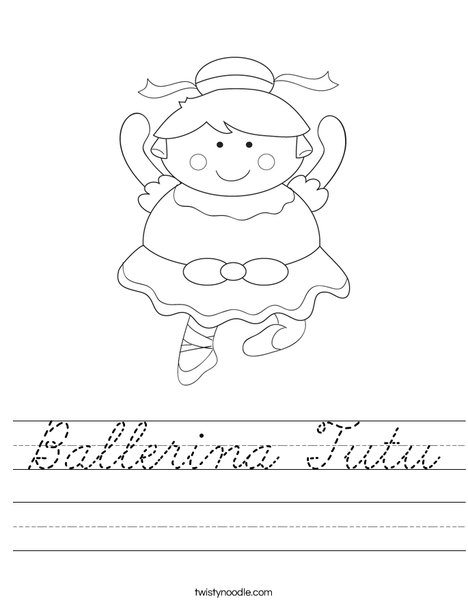 Cartoon Ballerina Worksheet