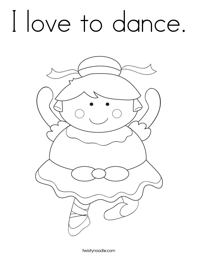 I love to dance. Coloring Page