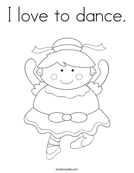 i love to dance coloring page twisty noodle i love to dance coloring page