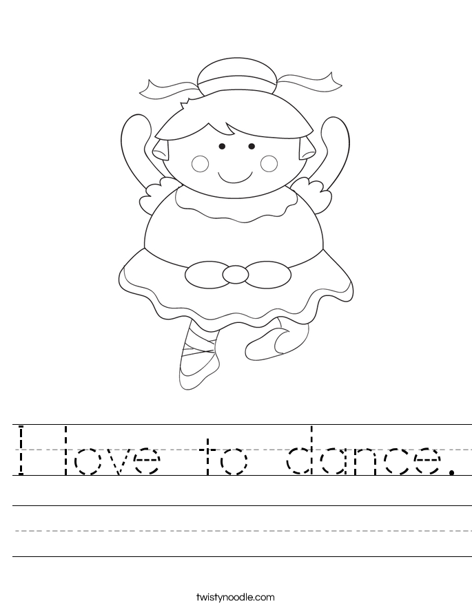 I love to dance. Worksheet