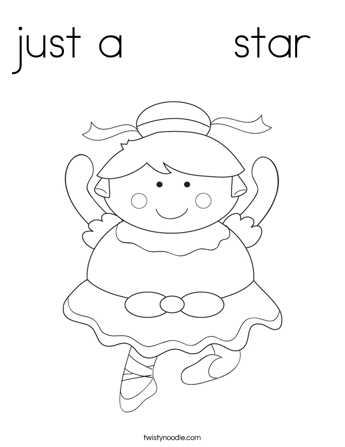 just a       star Coloring Page