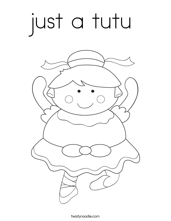 just a tutu Coloring Page