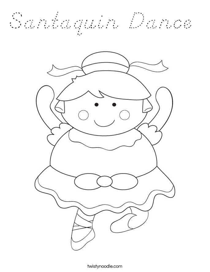 Disco santa coloring pages