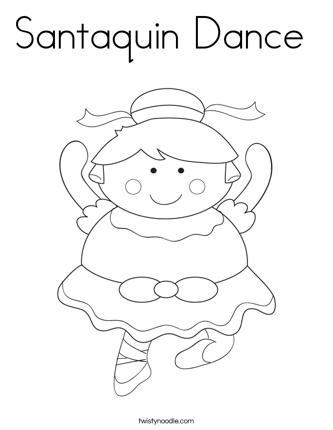 Santaquin Dance  Coloring Page