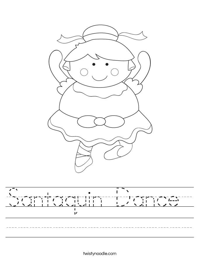 Santaquin Dance  Worksheet