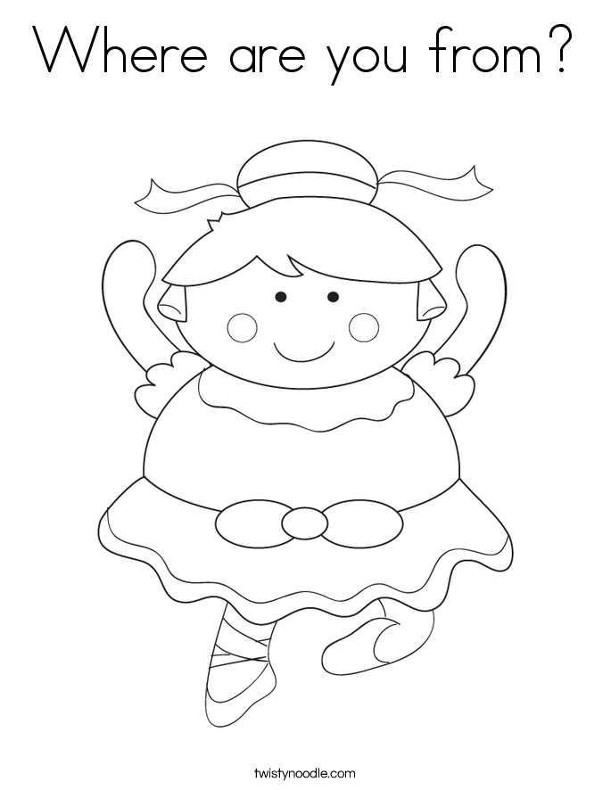 Where are you from? Coloring Page