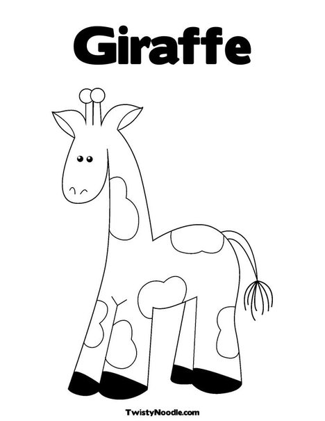 Outline of Giraffe for Preschoolers http://printablecolouringpages.co.uk/?s=giraffe%20outline