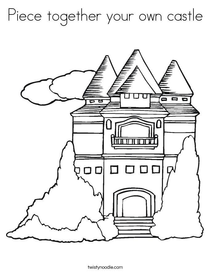 Piece together your own castle Coloring Page