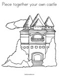 Piece together your own castleColoring Page