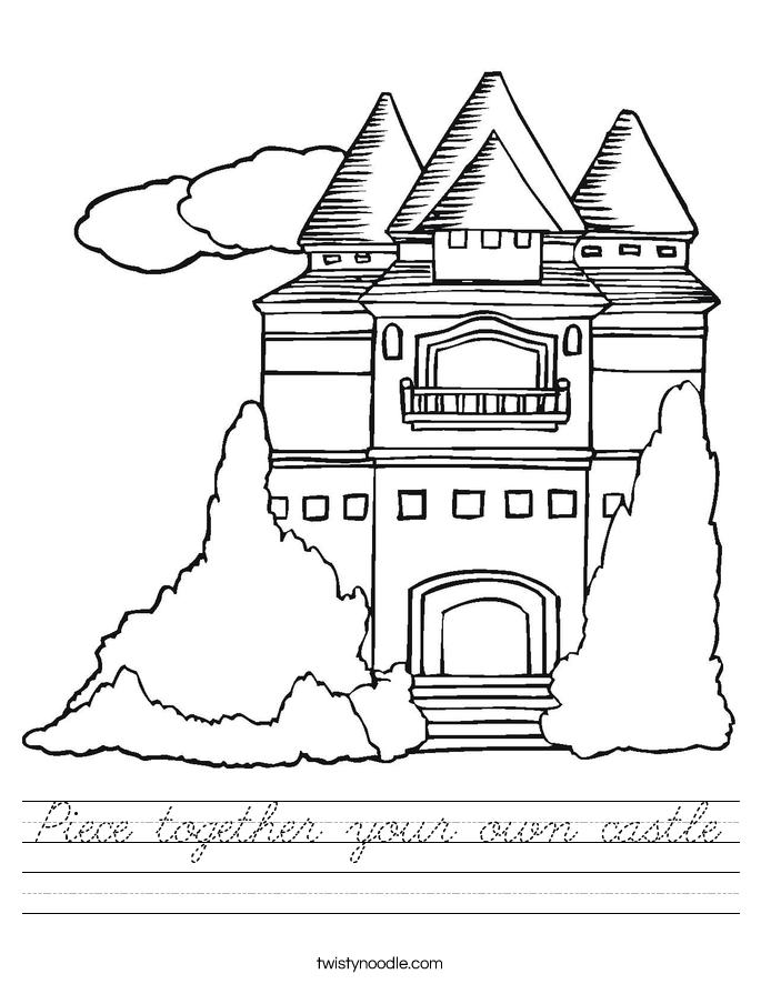 Piece together your own castle Worksheet
