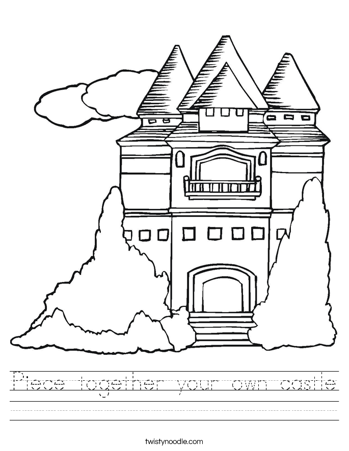 Piece together your own castle Worksheet