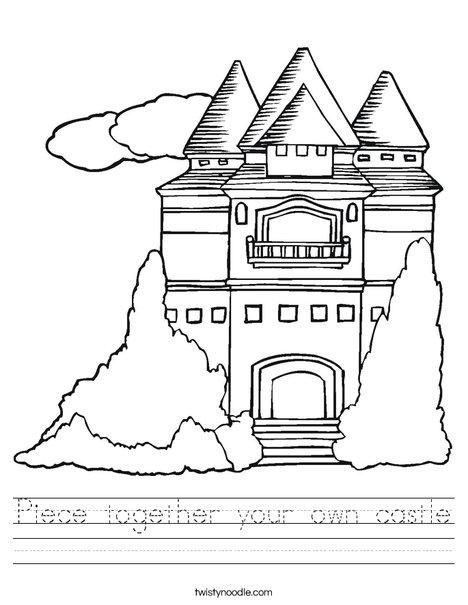 Princess Castle Worksheet