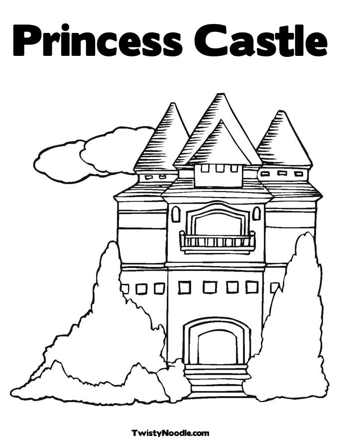 princess in a castle coloring pages - bouncy castle free colouring pages