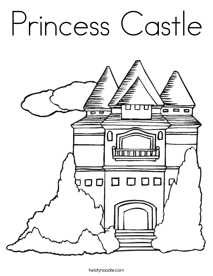 alphabet coloring pages castle - photo#29