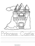 Princess Castle Handwriting Sheet