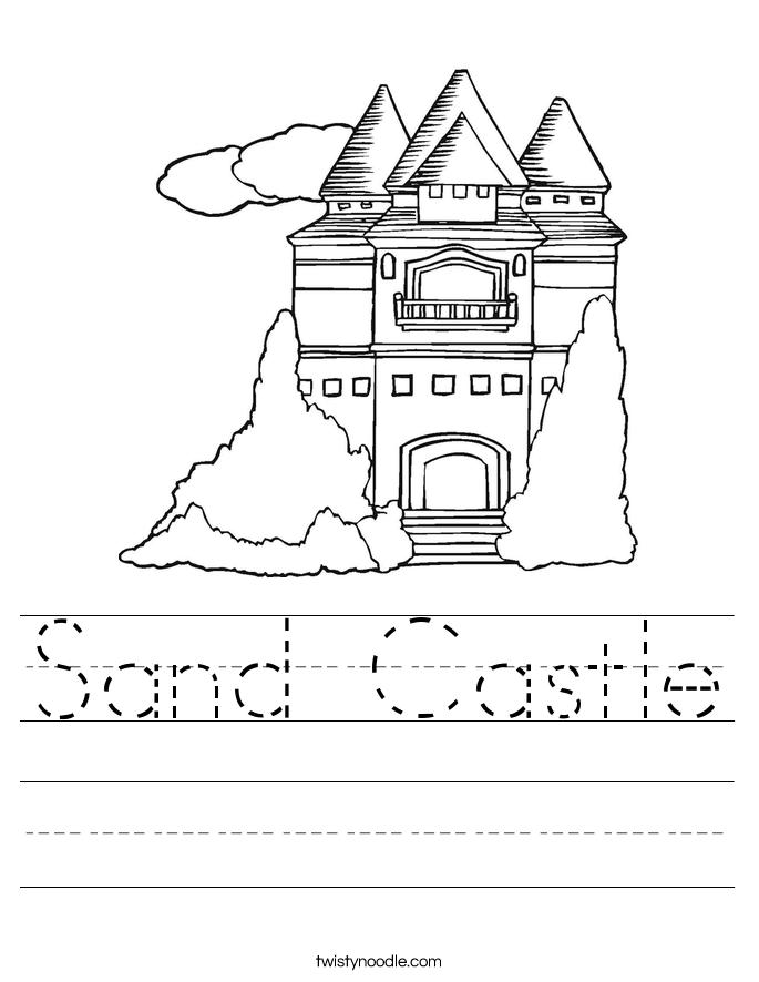 Sand Castle Worksheet