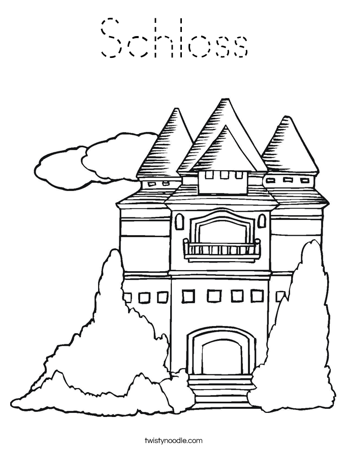 Schloss Coloring Page