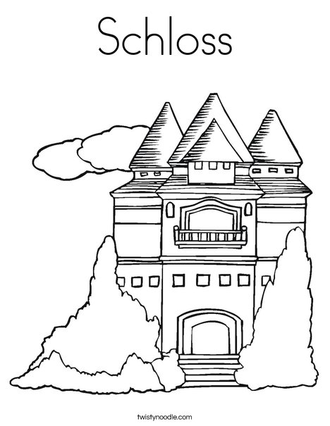 Princess Castle Coloring Page