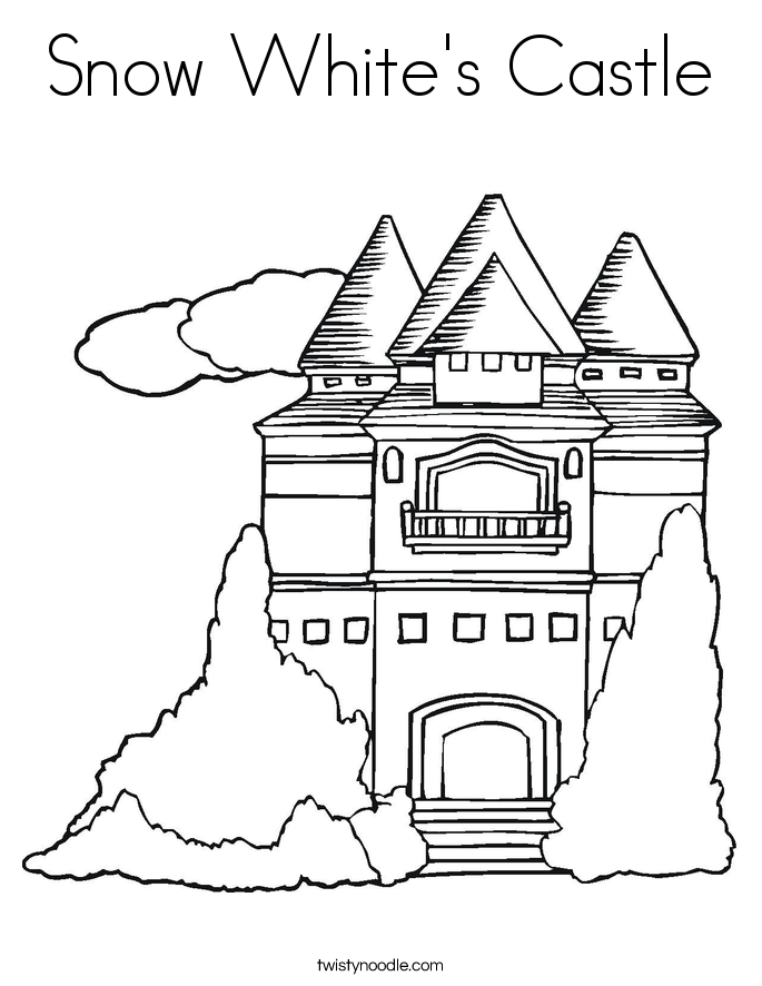 Coloring Castle Alphabet Pages : Snow white s castle coloring page twisty noodle