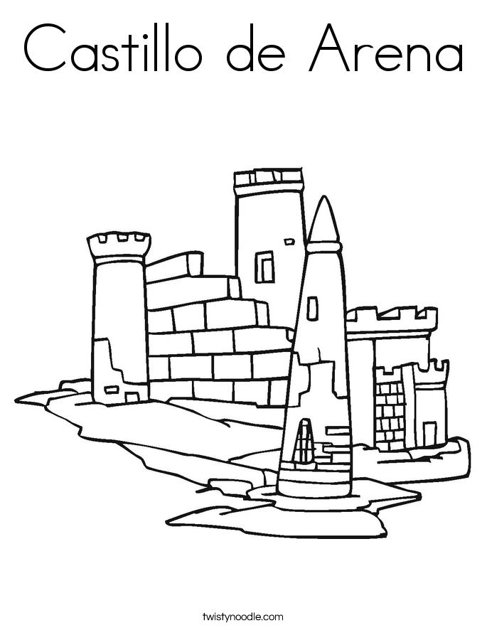 Castillo de Arena Coloring Page