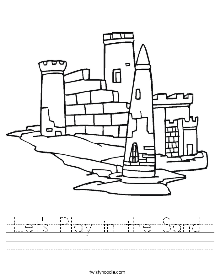 Let's Play in the Sand Worksheet