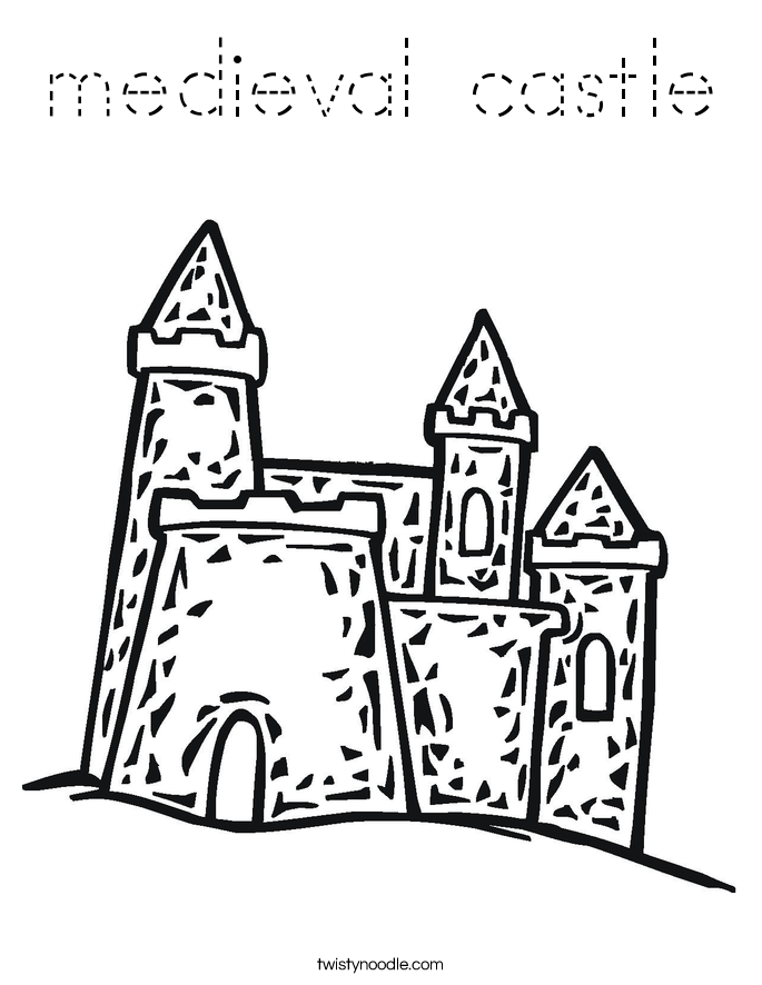 medieval castle Coloring Page