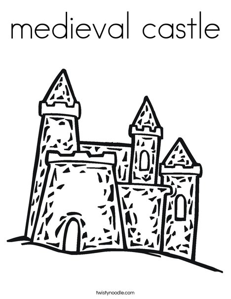 medieval castle coloring page twisty noodle