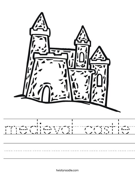 medieval castle Worksheet - Twisty Noodle