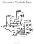 Sandcastle - Castillo de ArenaColoring Page
