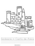 Sandcastle - Castillo de Arena Worksheet