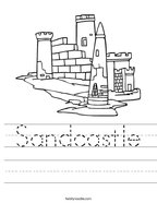 Sandcastle Handwriting Sheet