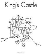 King's Castle Coloring Page