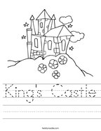 King's Castle Handwriting Sheet