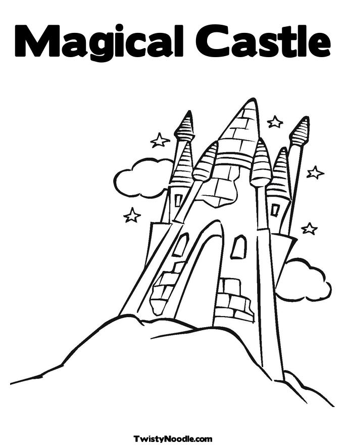 free magic kingdom coloring pages - photo#37