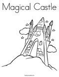 Magical Castle Coloring Page