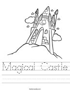 Magical Castle Handwriting Sheet
