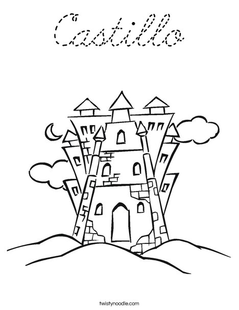 Castle 6 Coloring Page