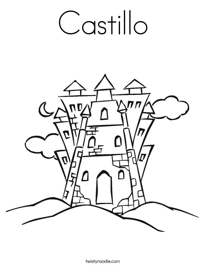 Castillo Coloring Page