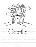 Castillo Handwriting Sheet