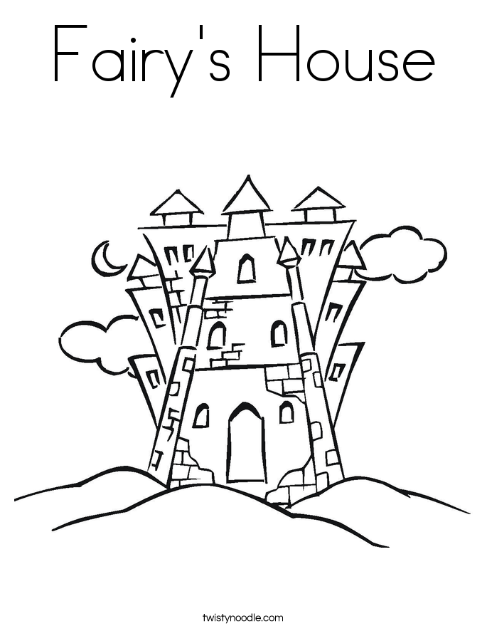 Fairys House Coloring Page Twisty Noodle