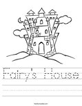 Fairy's House Worksheet