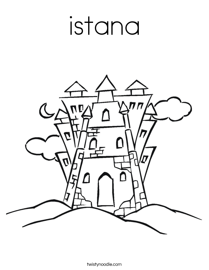 istana Coloring Page