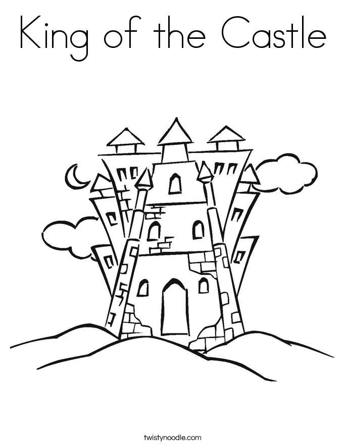Coloring Page Castle Top Printable Castle Coloring Sheet Coloring