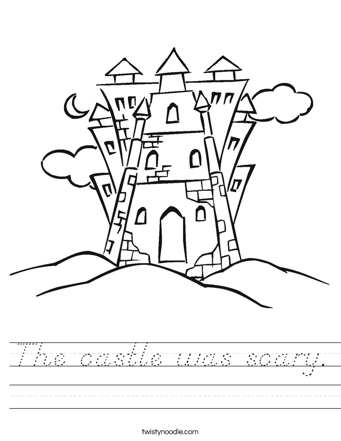 The castle was scary. Worksheet