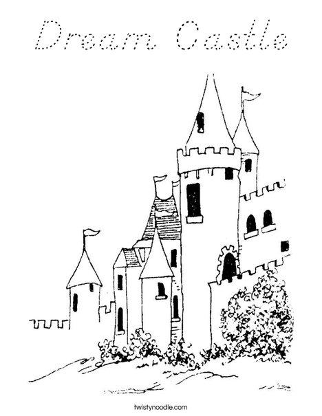 Dream Castle Coloring Page