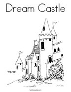Dream Castle Coloring Page